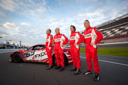 #69 AIM Autosport Team FXDD Racing with Ferrari Ferrari 458: Jeff Segal, Emil Assentato, Anthony Lazzaro, Nick Longhi