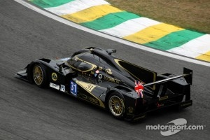 Lola B12/80 Coupé LMP2 on track at Sao Paulo