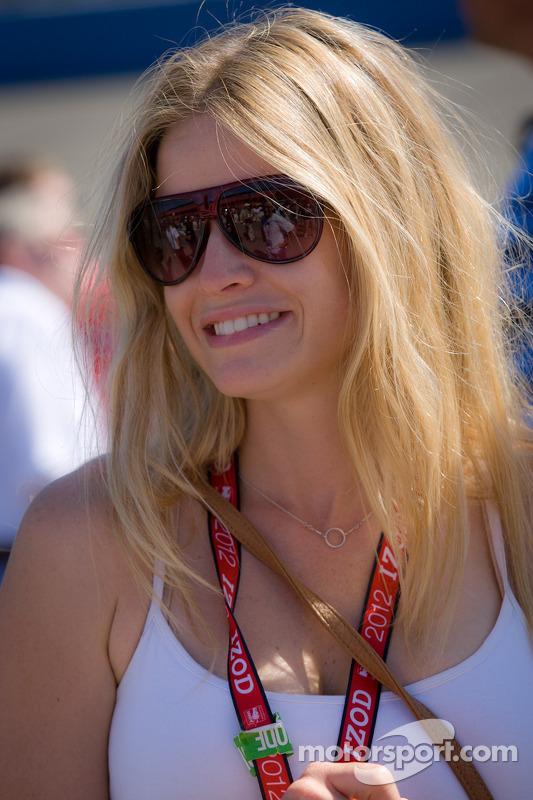 Vriendin van Oriol Servia, Dreyer & Reinbold Racing Chevrolet