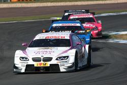 Andy Priaulx, BMW Team RBM BMW M3 DTM leads Roberto Merhi, Persson Motorsport AMG Mercedes C-Coupe