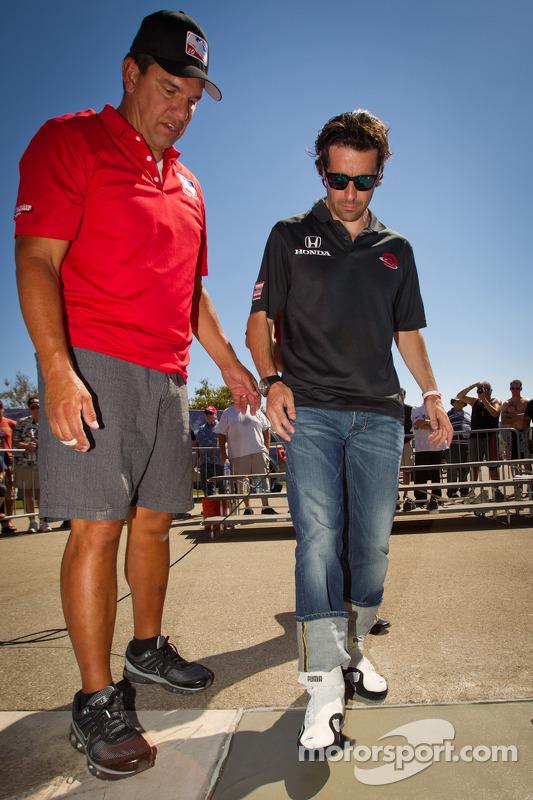 Dario Franchitti Walk of Fame ceremonie: Dario Franchitti, Target Chip Ganassi Racing Honda