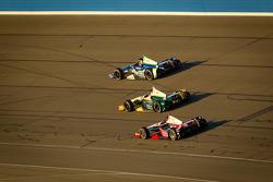 Tony Kanaan, KV Racing Technology Chevrolet, Ed Carpenter, Ed Carpenter Racing Chevrolet and Ryan Briscoe, Team Penske Chevrolet