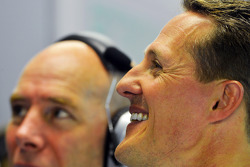 Michael Schumacher, Mercedes AMG F1 with Jock Clear, Mercedes AMG F1