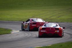 #13 Ferrari of Ontario 458CS: Marc Muzzo, #5 Ferrari of Atlanta 458CS: Jim Booth