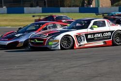 #2 Hexis Racing McLaren MP4-12C GT3: Alvaro Parente, Gregoire Demoustier overtakes #37 All-Inkl.com Munnich Motorsport Mercedes-Benz SLS AMG GT3: Nicky Pastorelli, Thomas Jäger