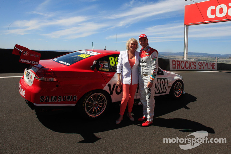 Craig Lowndes with the special Bathurst livery for Team Vodafone