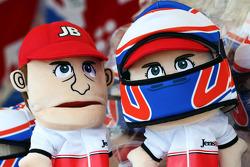 Jenson Button, McLaren hand puppets on sale