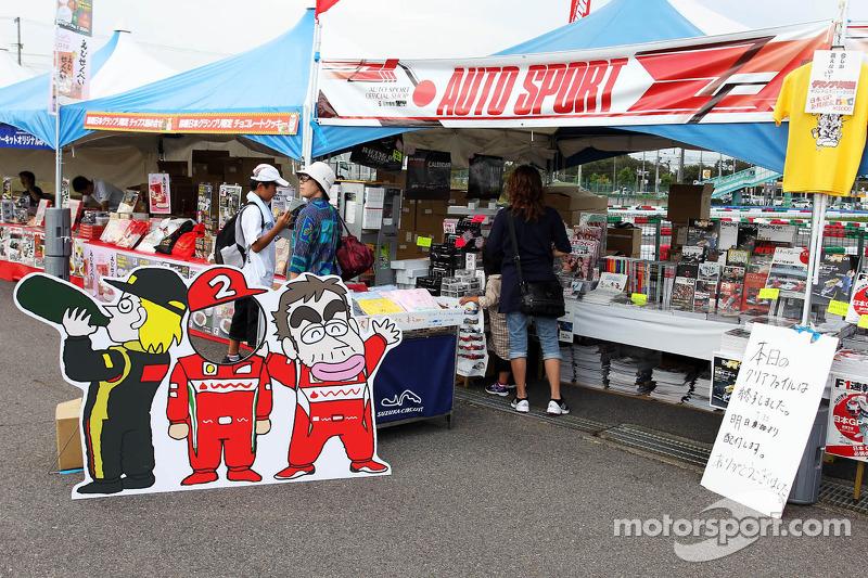 Fans' merchandise area