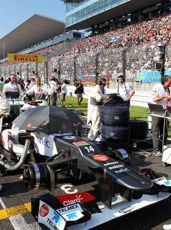 Kamui Kobayashi, Sauber on the grid