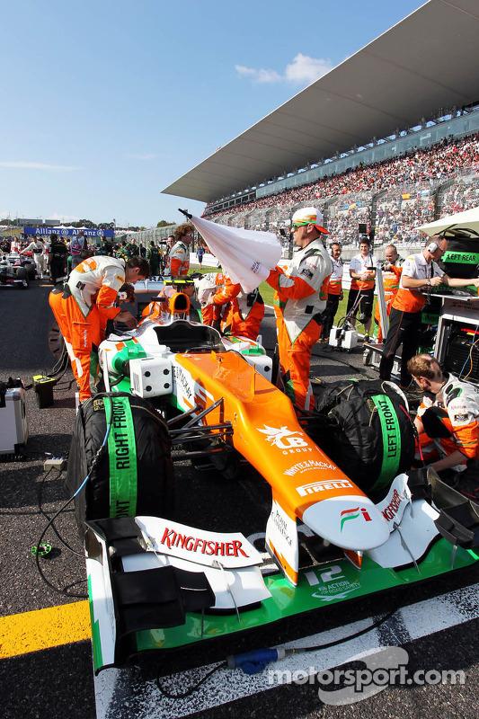 Nico Hulkenberg, Sahara Force India F1 op de grid