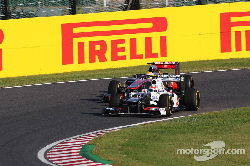 Lewis Hamilton, McLaren en Sergio Perez, Sauber duel
