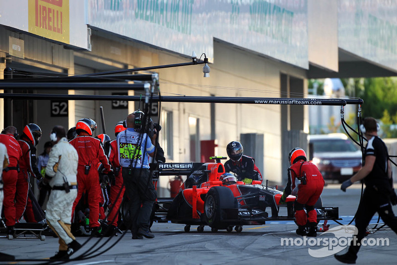 Timo Glock, Marussia F1 Team is retired from the race
