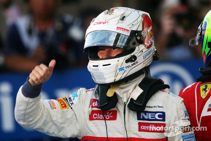 Kamui Kobayashi, Sauber vierde derde plaats in parc ferme