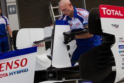 Toyota Racing crew members at work