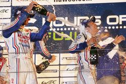 Overall podium: winners Alexander Wurz, Kazuki Nakajima