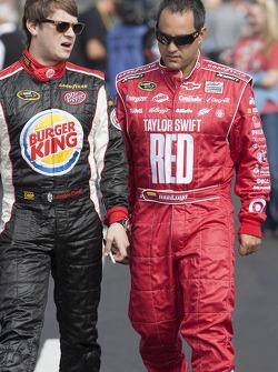 Landon Cassill and Juan Pablo Montoya
