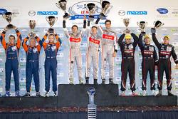 ELMS LMP podium: class winners Mathias Beche, Pierre Thiriet, Christophe Tinseau, second place Jacques Nicolet, Bertrand Baguette, Olivier Pla, third place Alex Brundle, Alex Buncombe, Tom Kimber-Smith