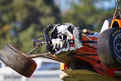 Wrecked car of Martin Scuncio