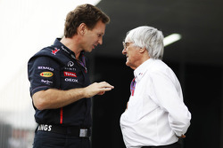 Christian Horner, Red Bull Racing Team Principal en Bernie Ecclestone, CEO Formula One Group