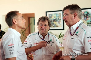 Martin Whitmarsh, McLaren Chief Executive Officer with Norbert Haug, Mercedes Sporting Director and Ross Brawn, Mercedes AMG F1 Team Principal