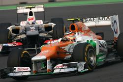 Nico Hulkenberg, Sahara Force India Formula One Team y Sergio Pérez, Sauber F1 Team