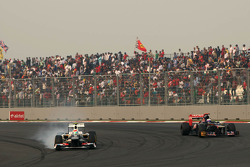Sergio Pérez, Sauber F1 Team y Jean-Eric Vergne, Scuderia Toro Rosso