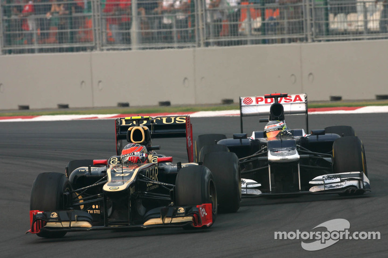 Romain Grosjean, Lotus F1 Team en Pastor Maldonado, Williams F1 Team
