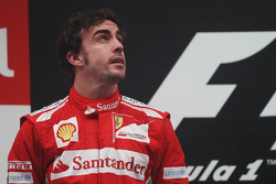 Fernando Alonso, Ferrari on het podium