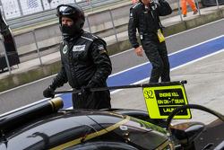 Rebellion Lotus Lola in pit lane before practice #3 starts