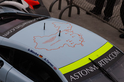 Map of China on top of #97 Aston Martin Racing Aston Martin Vantage V8
