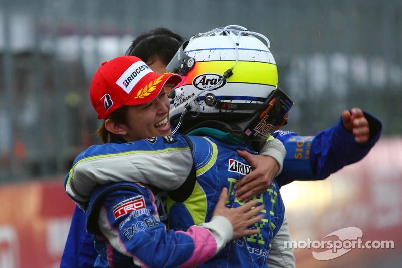 GT500 winnaars Kohei Hirate, Yuji Tachikawa