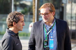 Alain Prost with a VIP