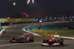 Felipe Massa, Ferrari y Lewis Hamilton, McLaren