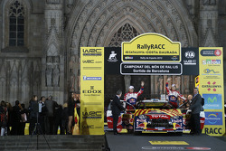 Ceremoniële start: Mikko Hirvonen en Jarmo Lehtinen, Citroën DS3 WRC, Citroën Total World Rally Team