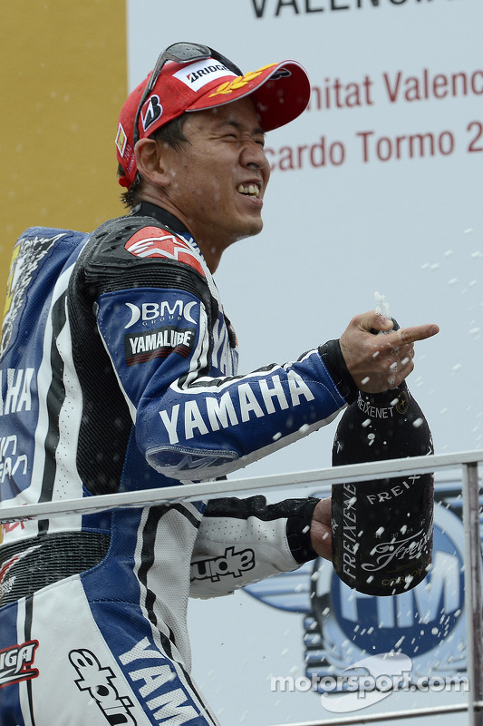 Podium: 2de Katsuyuki Nakasuga, Yamaha Factory Racing