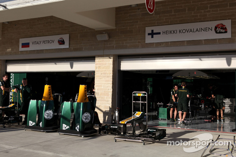 Caterham team area