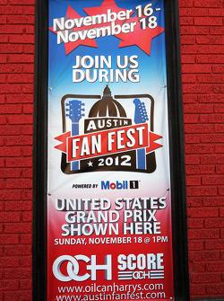 Fan Fest banner in Austin