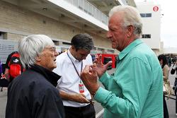 Bernie Ecclestone, CEO Formula One Group, met John Button