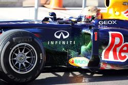 Sebastian Vettel, Red Bull Racing running flow-vis paint
