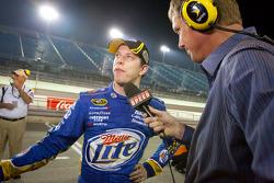 Brad Keselowski, Penske Racing Dodge gets provisional pole after his qualifying run