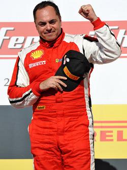 Podium: race winner Emmanuel Anassis