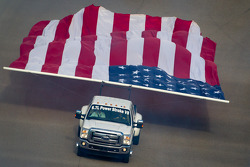 American flag parade