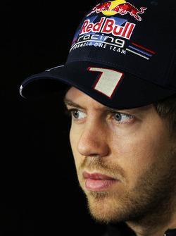 Sebastian Vettel, Red Bull Racing in the FIA Press Conference