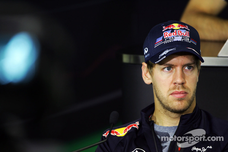 Sebastian Vettel, Red Bull Racing in de FIA persconferentie