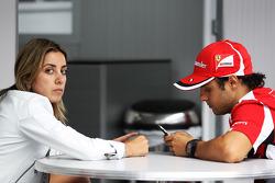 Felipe Massa, Ferrari met vrouw Rafaela Bassi
