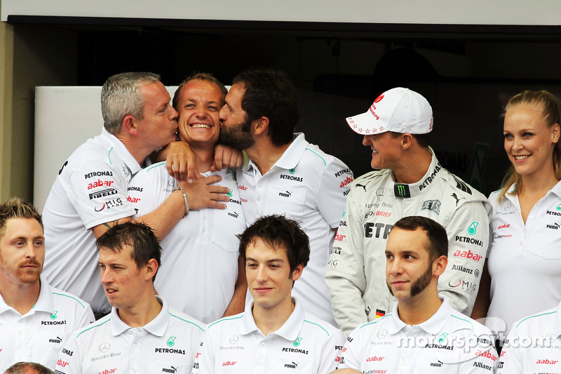 Michael Schumacher, Mercedes AMG F1 at a team photograph