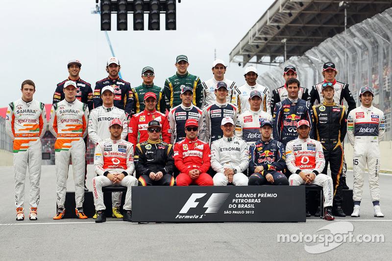 Familiefoto: de klas van 2012 in de Formule 1