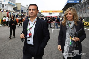 Carlos Ghosn, CEO Renault-Nissan on the grid