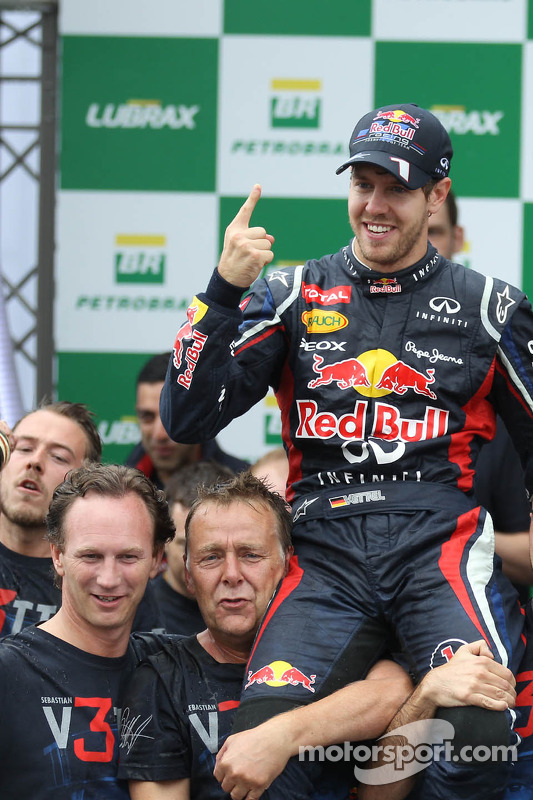 Sebastian Vettel, Red Bull Racing and Christian Horner, Red Bull Racing Team Principal