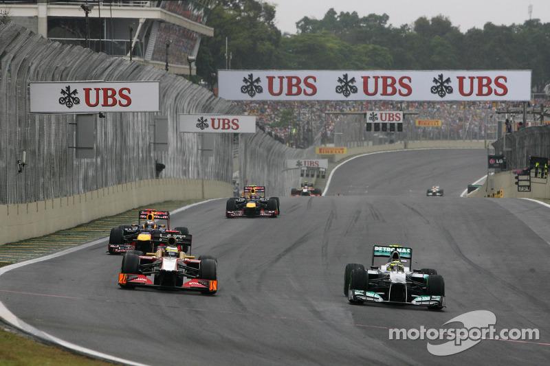 Педро де ла Роса. ГП Бразилии, Воскресная гонка.